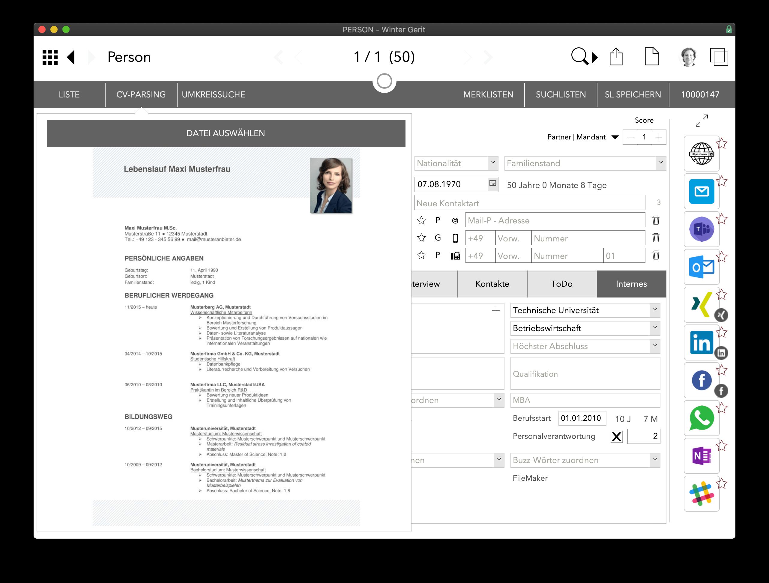 iRO - intelligent Recruiting Office